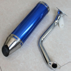 "Muffler for GY6-150cc Moped Scooters including clamp<br /><span class=""smallText\"">[L087-029]</span>"
