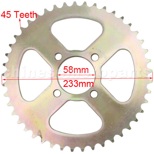 Go Kart Sprockets And Chains : Teeth rear sprocket for cc atv dirt bike go