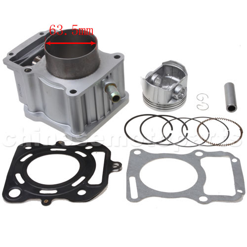 Cylinder Head For Cylinder Piaggio Liquid Cooled: 63.5mm Bore Cylinder Rebuilt Kit For CG200cc Water-cooled