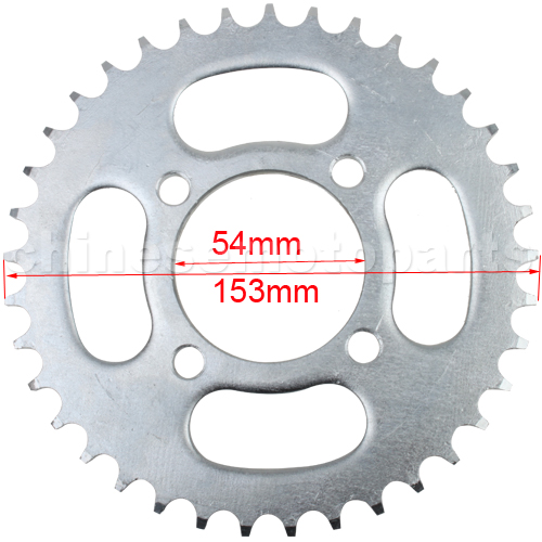 420 37 Teeth Rear Sprocket for 50cc-125cc Dirt Bike