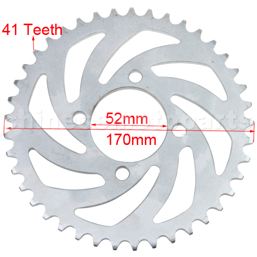 420 41 Teeth Rear Sprocket for 50cc-125cc Dirt Bike