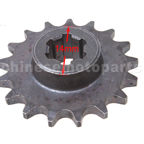 17 Teeth Sprocket for 2-stroke Pocket Bike