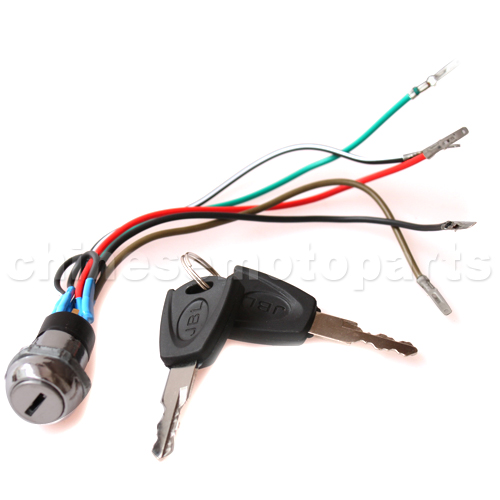 SEO_COMMON_KEYWORDS 5 wire Iron Key Ignition for 2-stroke Pocket Bike