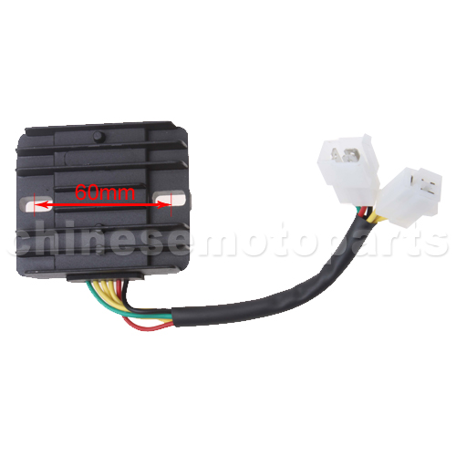 6-wire DC Voltage Regulator for 50cc-250cc Scooter