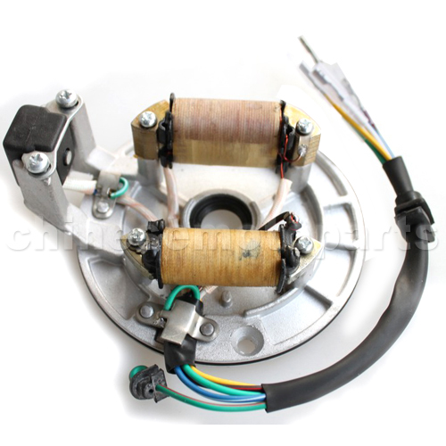 2-Coil Magneto Stator for 50cc-125cc only Kick Start ATV, Dirt Bike & Go Kart