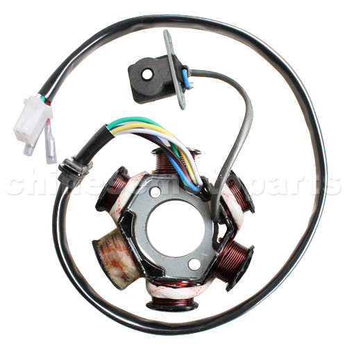 6-Coil Magneto Stator for GY6 125cc-150cc ATV, Go Kart, Moped & Scooter