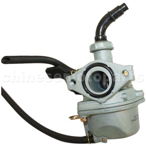 PZ19 Carburetor w//hand choke with Oil Switch for 110cc ATV Dirt Bike Go Kart