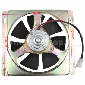 Fan for 200cc-250cc Water-cooled ATV & Dirt Bike
