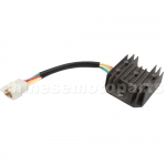 4-wire Voltage Regulator for GY6 150cc & CG 125cc-250cc ATV, Dirt Bike, Go Kart, Moped & Scooter